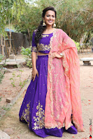 Actress Shraddha Srinath in Purple Chania Choli Cute Pics ~  Exclusive 57.jpg