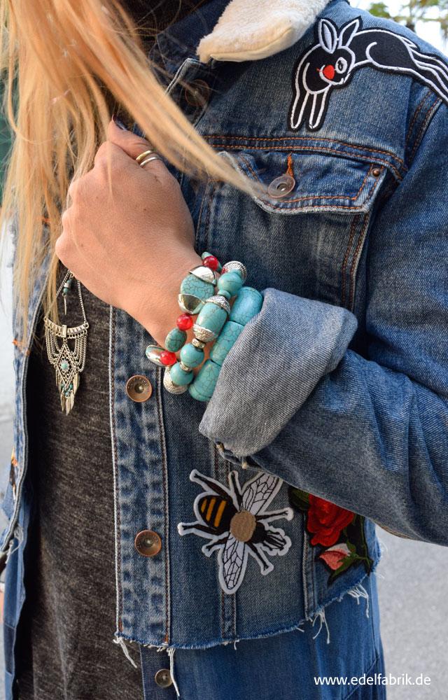 Armbänder und Kette aus Türkis, Indianerschmuck