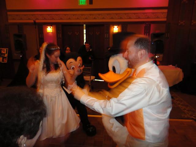 Disneyland Wedding - Dancing with Donald