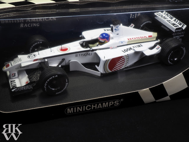 MINICHAMPS 1/18 B.A.R BAR003 J.Villeneuve ジャック ヴィルヌーブ