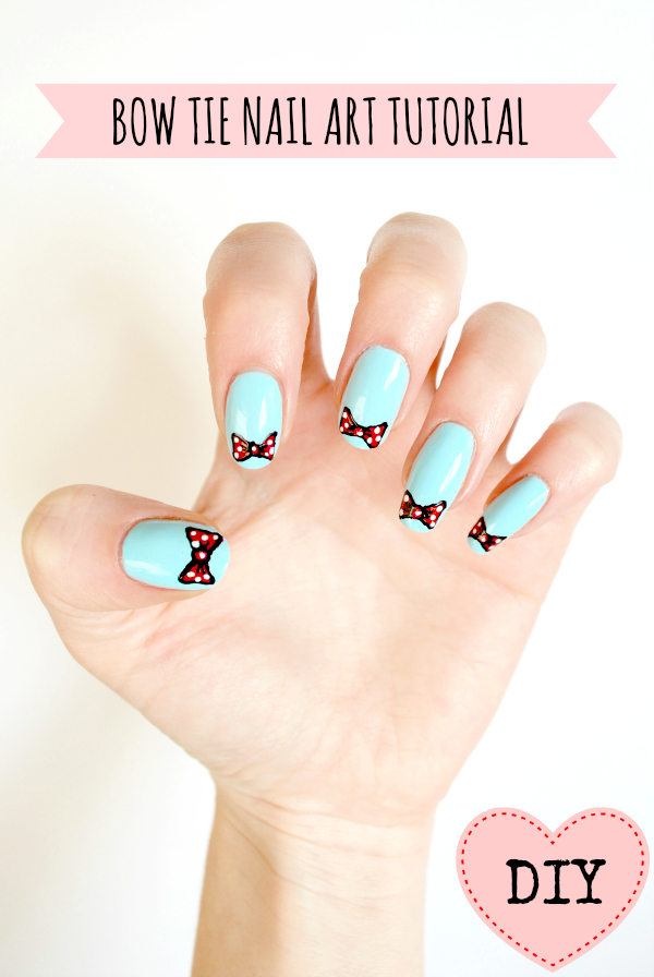 DIY easy bow nail art tutorial! | BURKATRON