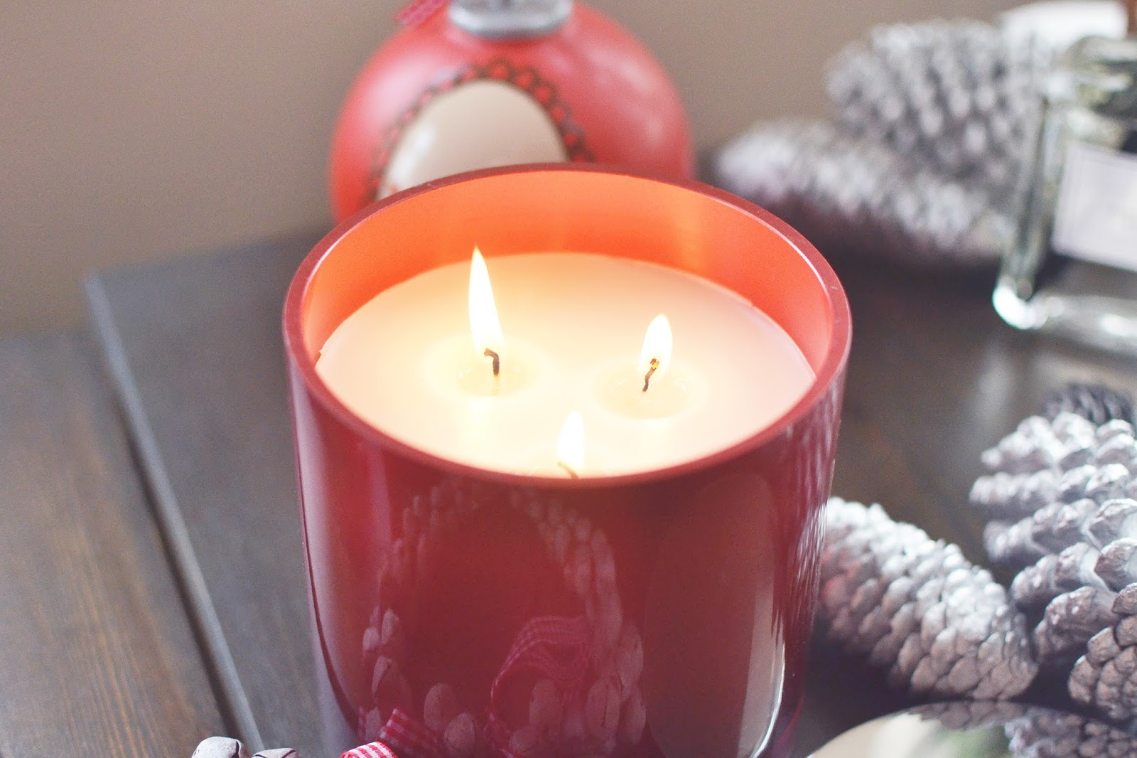 christmas candle, linea candle, large candles
