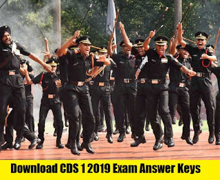 Download CDS 1 2019 Maths Paper Exam Answer Keys