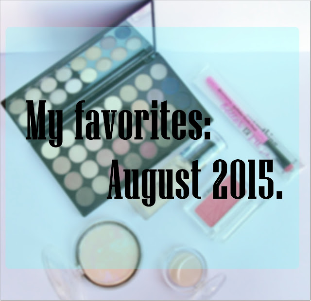 My favorites: August 2015.