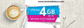 GP 4 GB Internet data at Tk. 179 offer