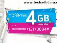 GP 4 GB Internet data at Tk. 179 offer
