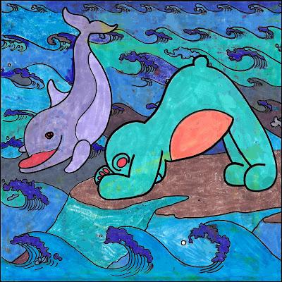 yoga, yoga teddy bear, dolphin, dolphin pose, makarasana, arch pincha mayurasana, yoga ed, 108 yoga poses, coloring book, coloring contest