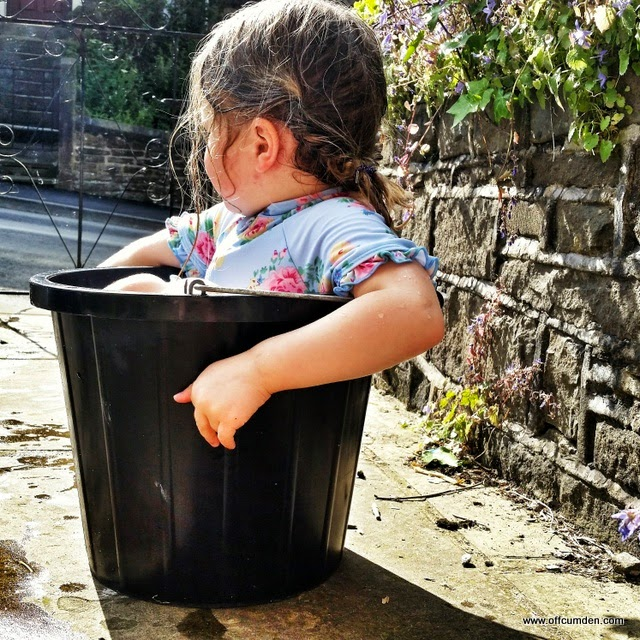 Girl in bucket
