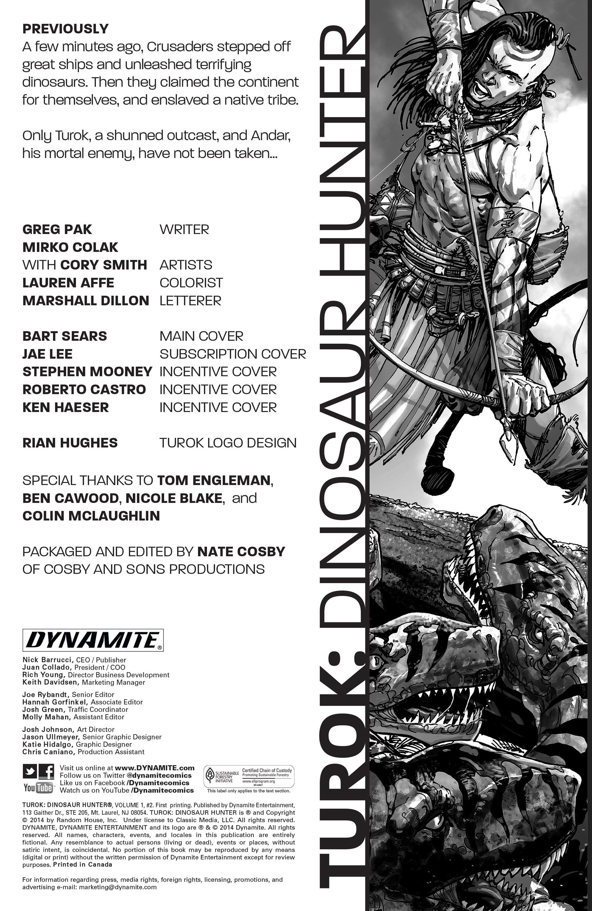 Read online Turok: Dinosaur Hunter (2014) comic -  Issue #2 - 2