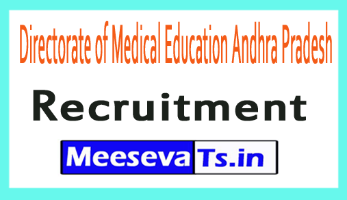 Directorate of Medical Education Andhra Pradesh DME AP Recruitment