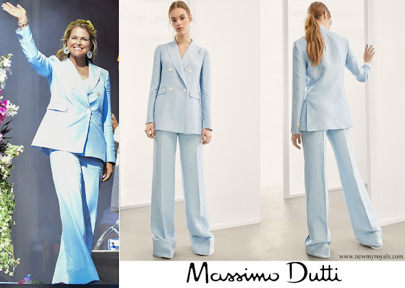 Princess Madeleine wore Massimo Dutti Suit from Spring Summer Collection 2018