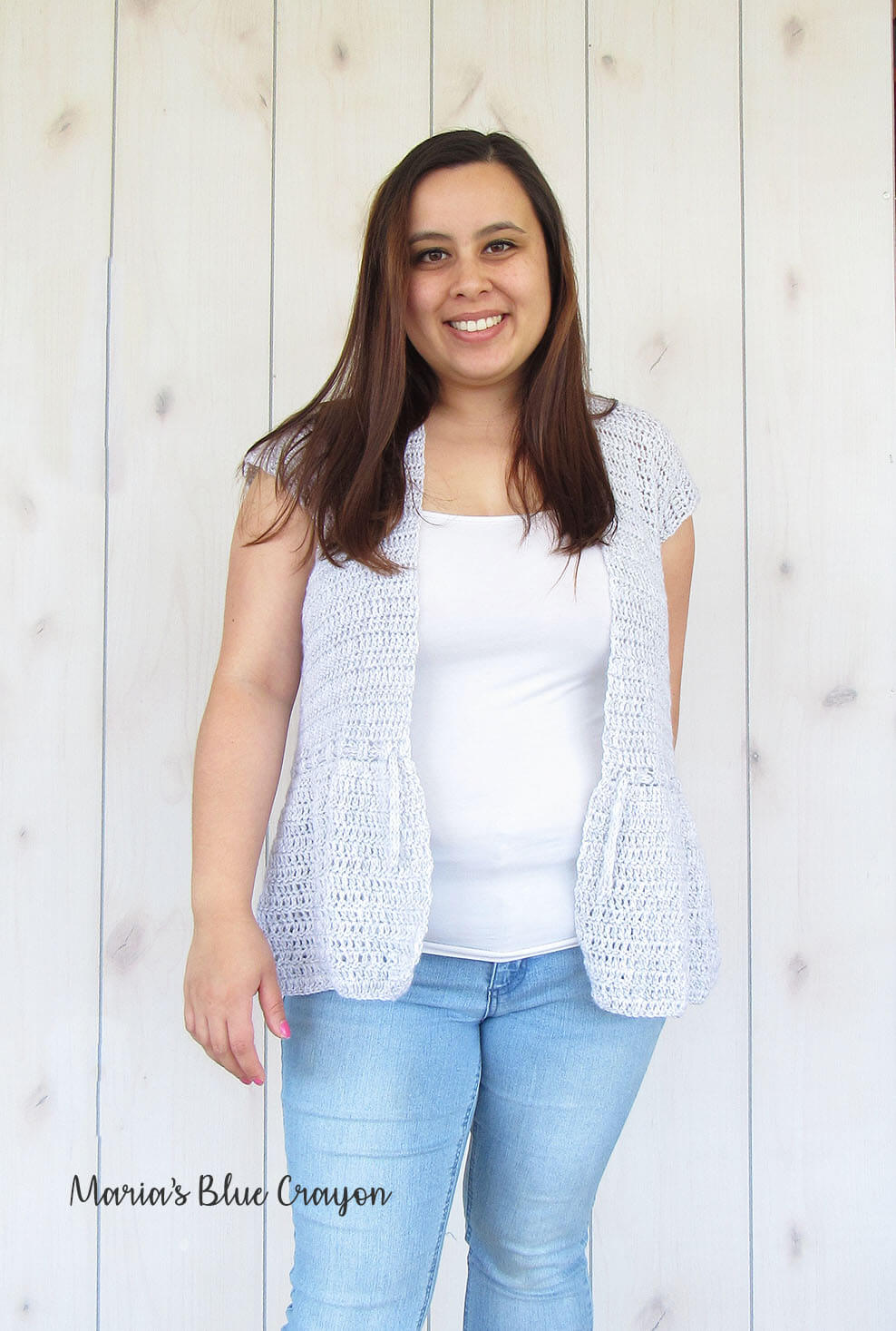 Crochet Ruffle Cardigan for Spring/Summer - Free Pattern - Maria\'s ...