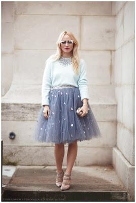 falda de tul mujer