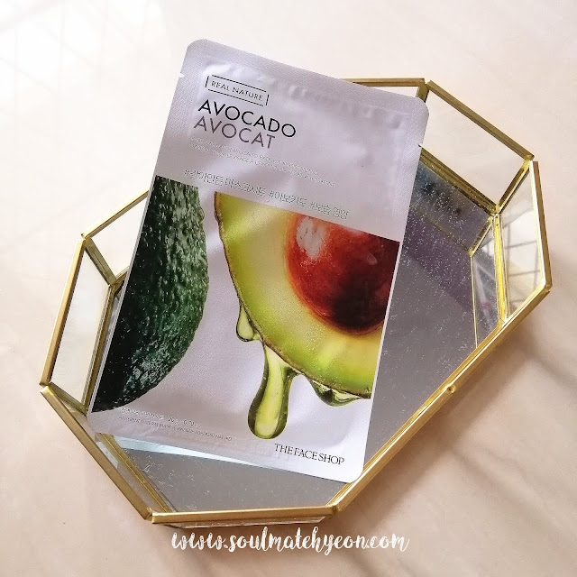 Review; The Face Shop's Real Nature Avocado Face Mask + First Impression