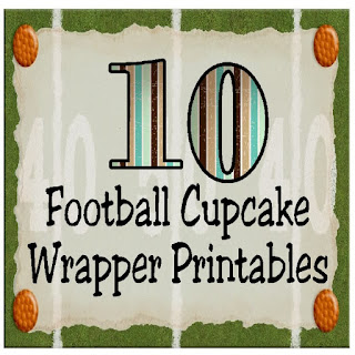 Don't you love these printable cupcake wrappers? You can make a sure fire touchdown by adding a fantastic football cupcake wrapper to your next tailgating or football party.  It's a simple but fun way to add some party décor to your football party without a lot of work.