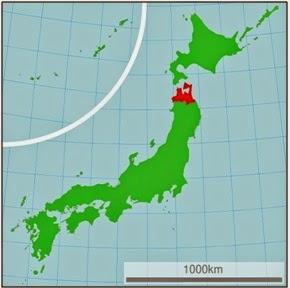 Japan map Aomori Prefecture