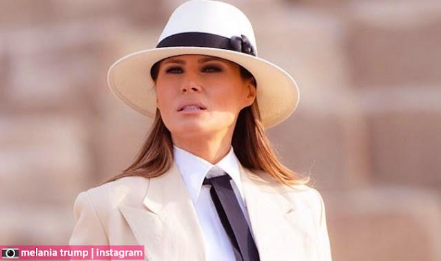 شاهد ميلانيا ترامب في مصر..صور