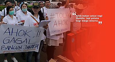 "Tolak Ahok! , ""Ahok bukan solusi bagi ibukota, tapi petaka bagi warga Jakarta"""