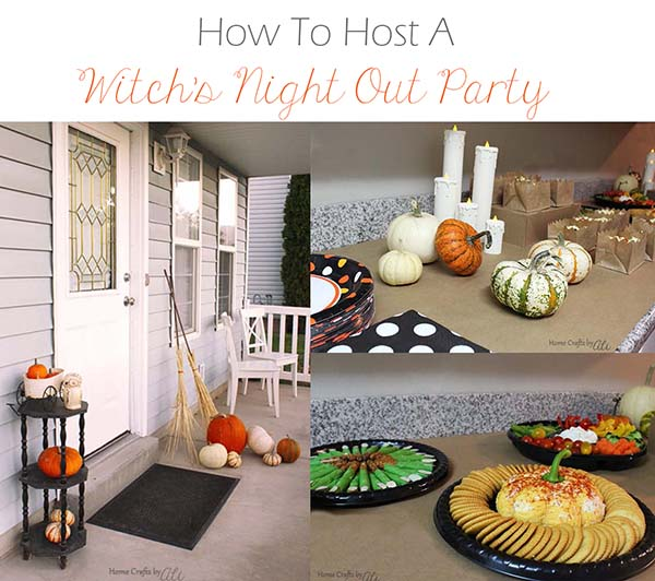 tips to host a party for ladies at Halloween
