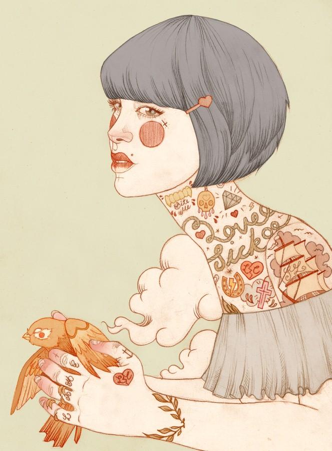 Татуированные женщины Лиз Клементс (Liz Clements) 13