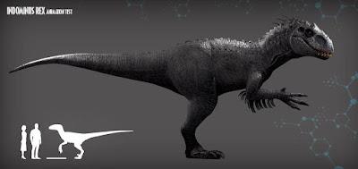 Indominus Rex tamaño
