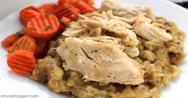 Easy Slow Cooker Chicken And Stuffing Recipe