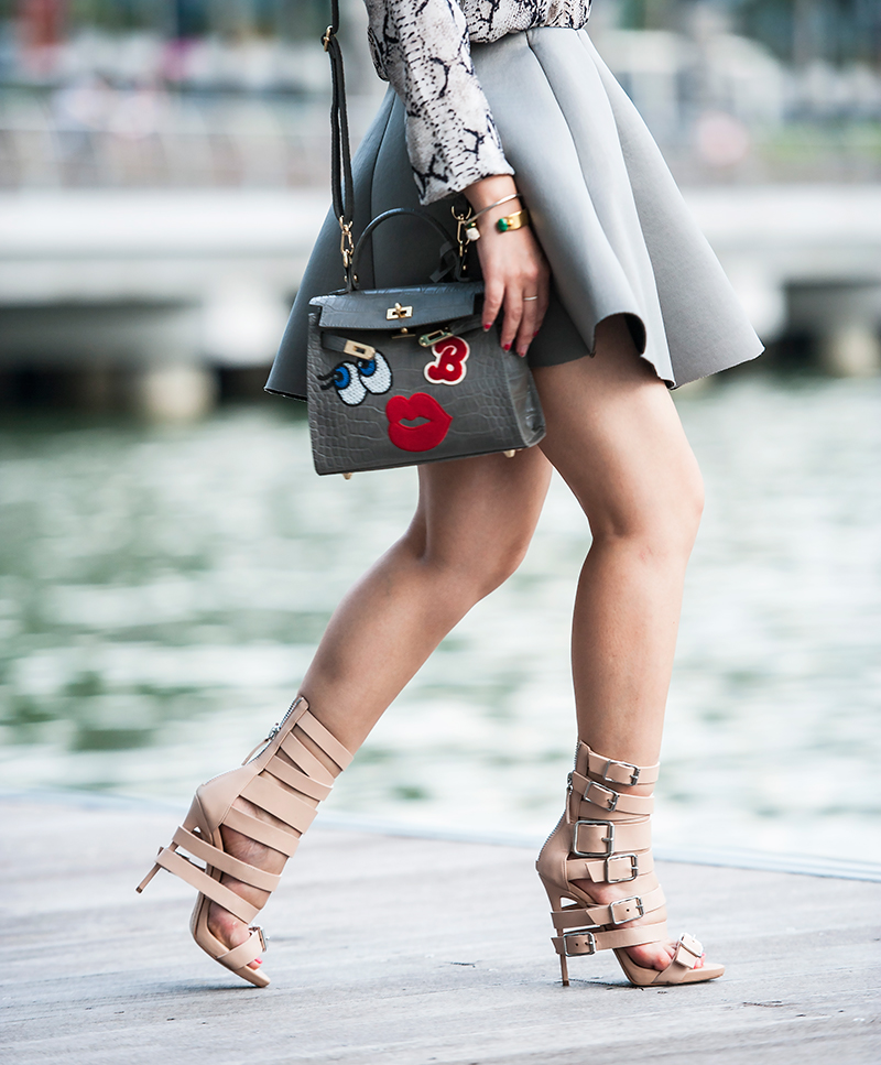 Crystal Phuong- Giuseppe Zanotti beige strappy buckle sandals