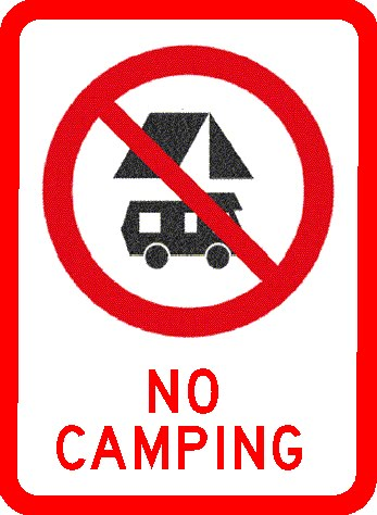 the bitchy waiter: No Campers Allowed