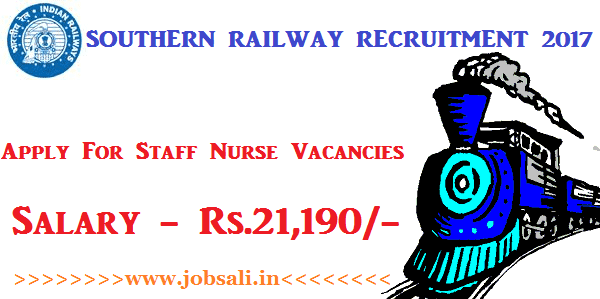 Indian Railway Vacancies, Indian Railway Staff Nurse Recruitment 2017, Indian Railway jobs
