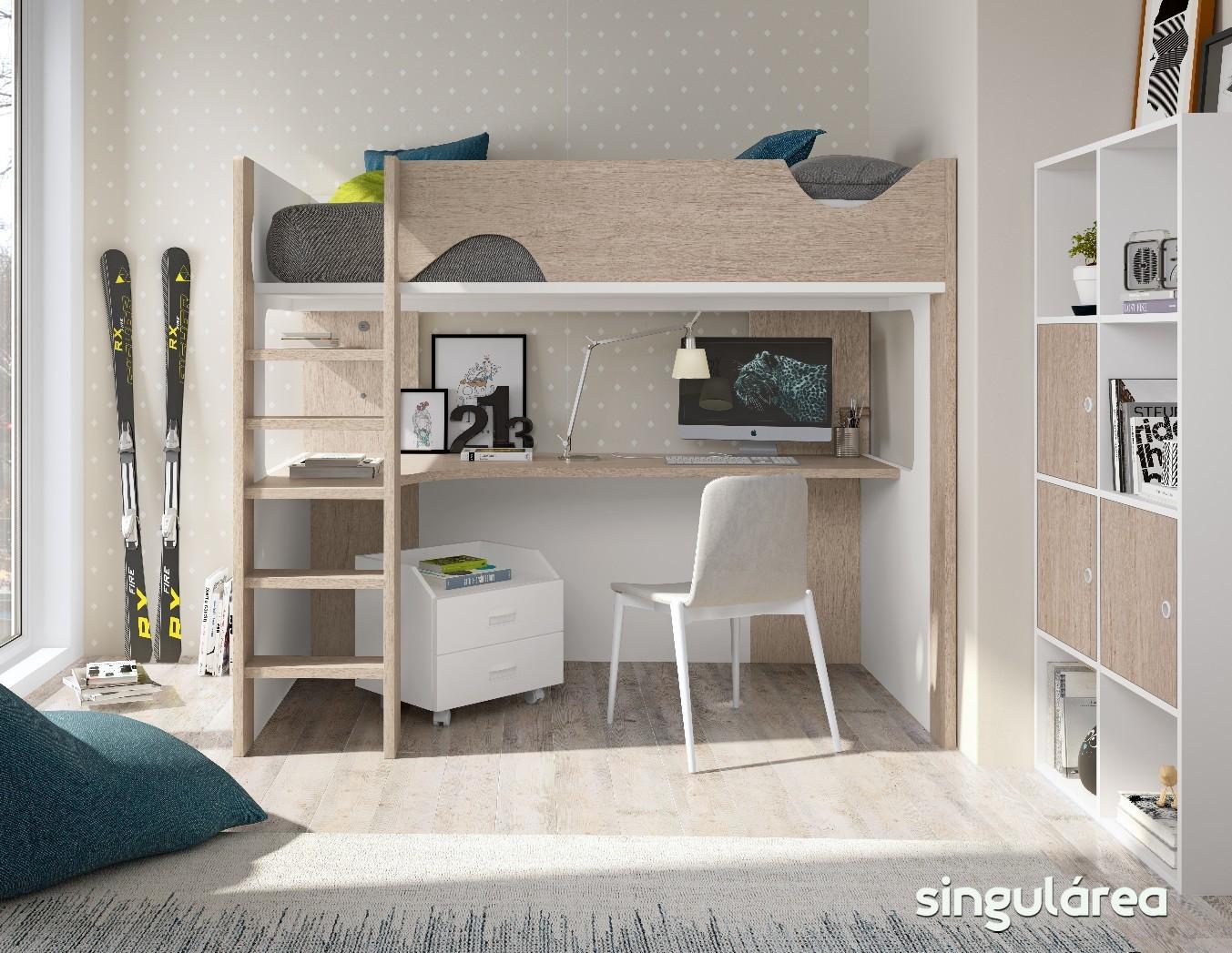 Litera estudio infantil 1116 - Dormitorios infantiles valencia ...