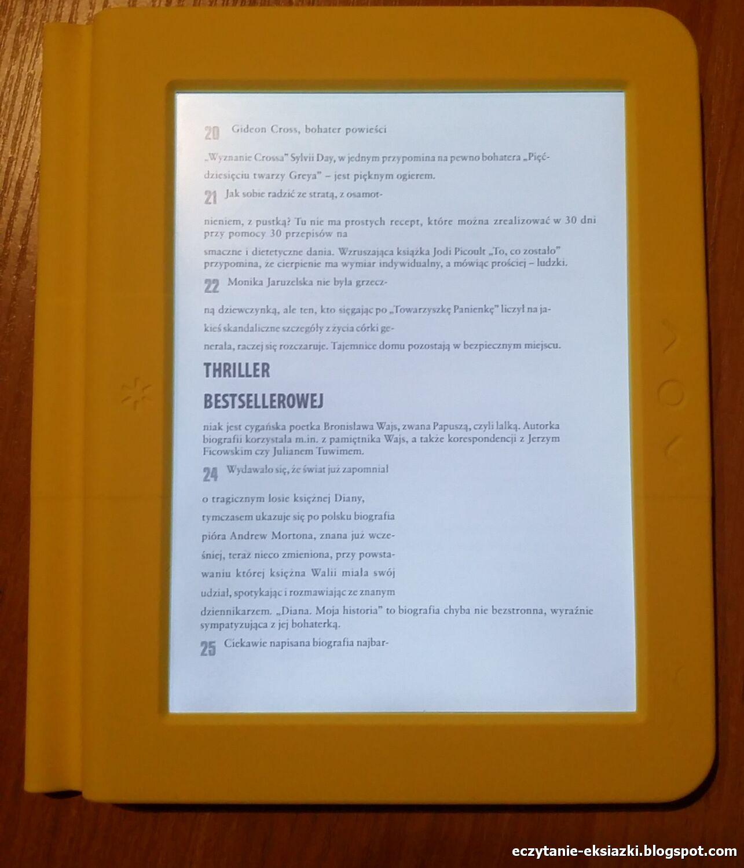 Przykład działania trybu reflow w pliku PDF z tekstem podzielonym na kolumny