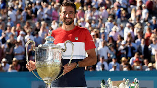 Cilic beats Djokovic to win Queen's title