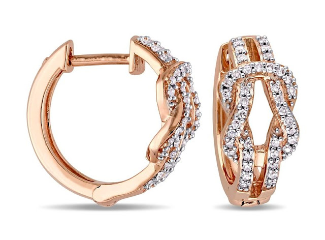 Designer Diamond Hoops
