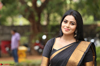 Poorna in Cute Backless Choli Saree Stunning Beauty at Avantika Movie platinum Disc Function ~  Exclusive 102.JPG