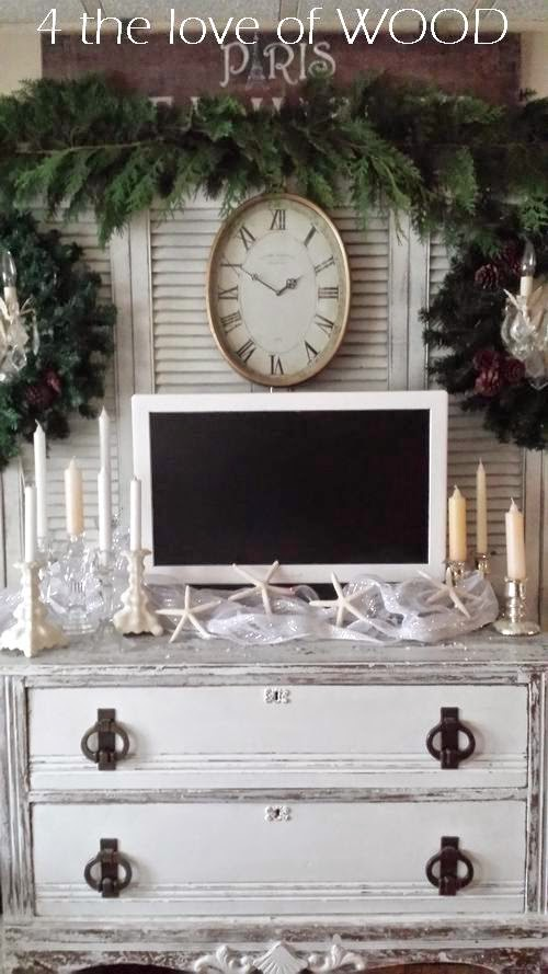 4 The Love Of Wood Christmas Decor 2014 Decorating Around The Tv