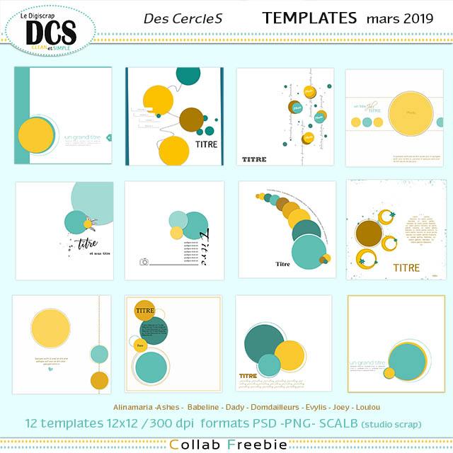 DCS templates de mars : Des cercles