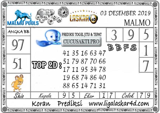 Prediksi Togel MALMO LASKAR4D 03 DESEMBER 2019