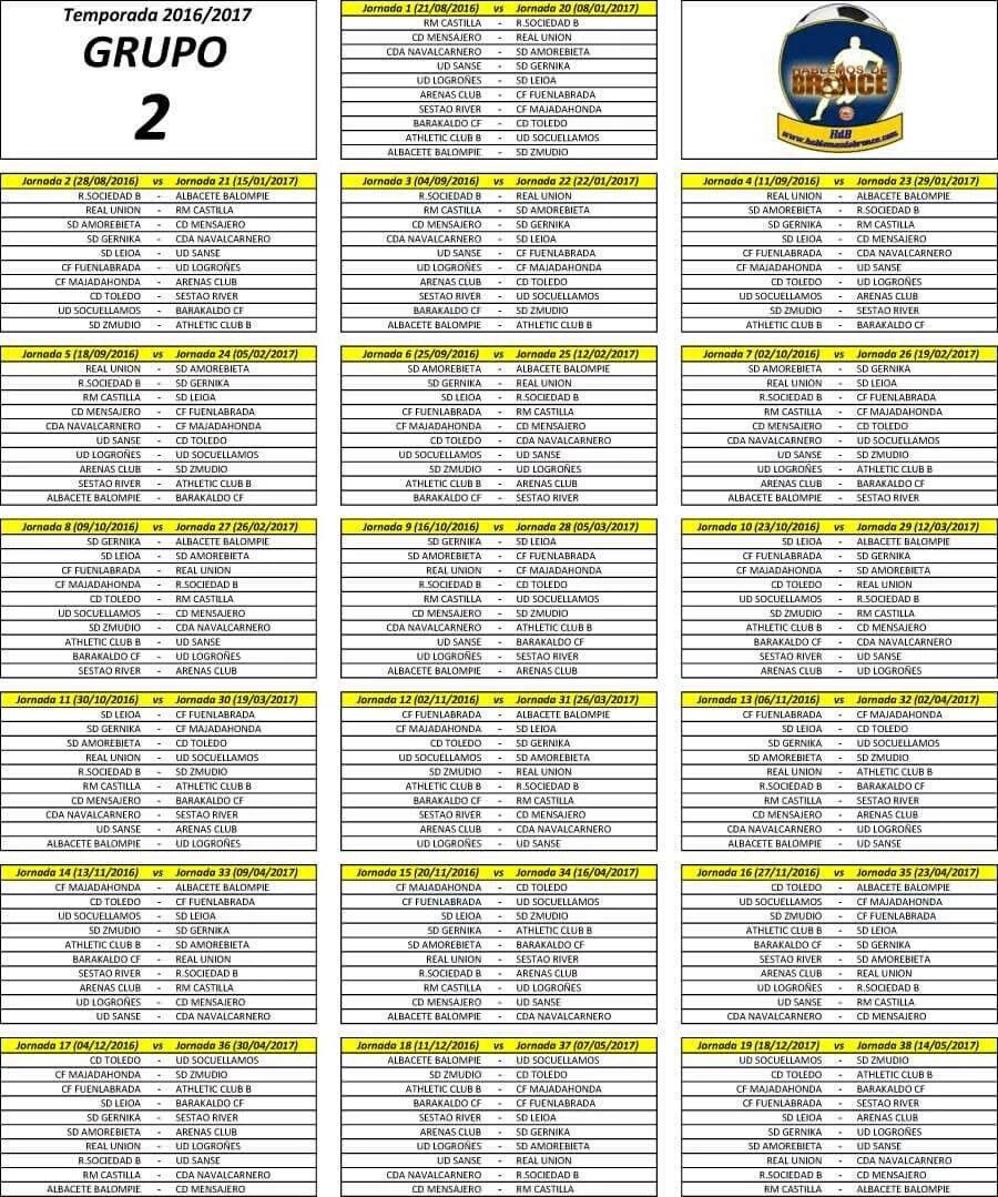 Calendario Segunda B.Arenas Club De Getxo 2019 20 Calendario Grupo 2 Segunda B