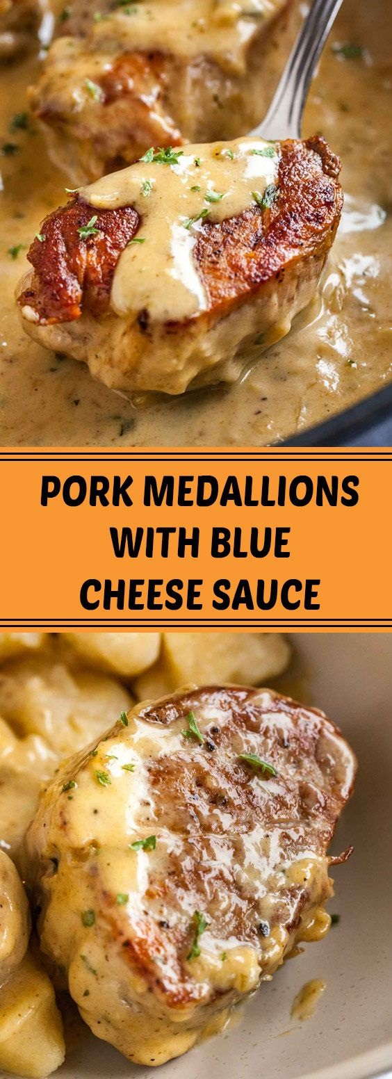 Pork Medallions With Blue Cheese Sauce
