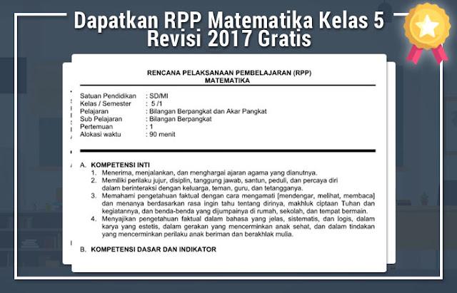 RPP Matematika Kelas 5 Revisi 2017