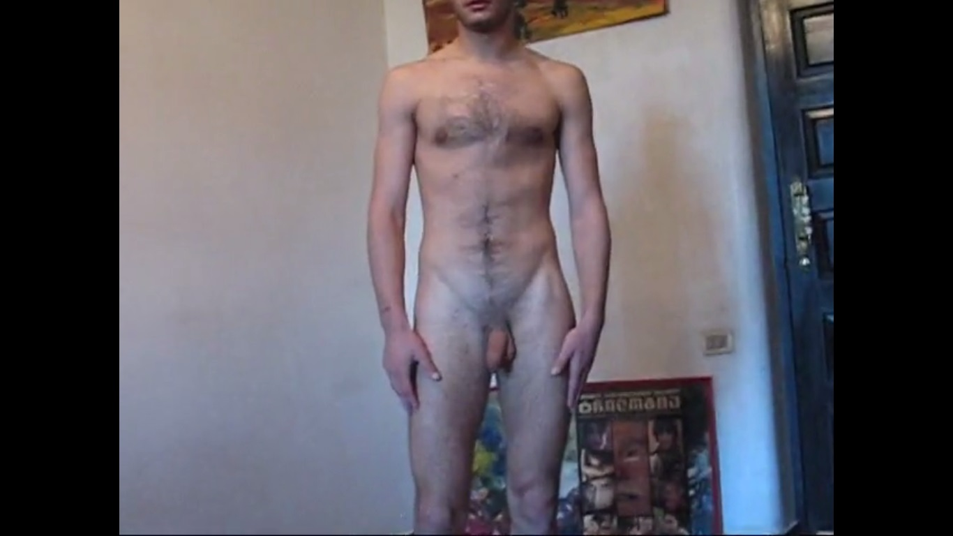 hairy chest guy posing