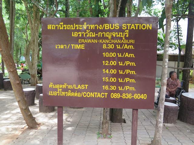 Horario Autobús Erawan - Kanchanaburi