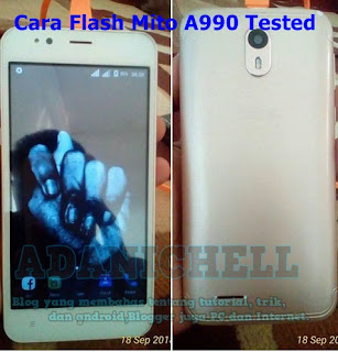 Cara Flash Mito A990