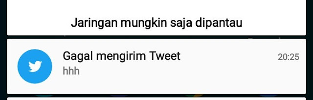 twitter down error gagal mengirim tweet