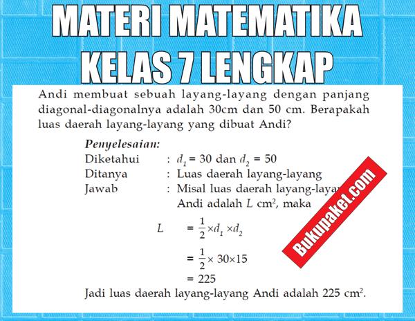 Materi Matematika Kelas 7 SMP/MTs Semester 1/2 Lengkap