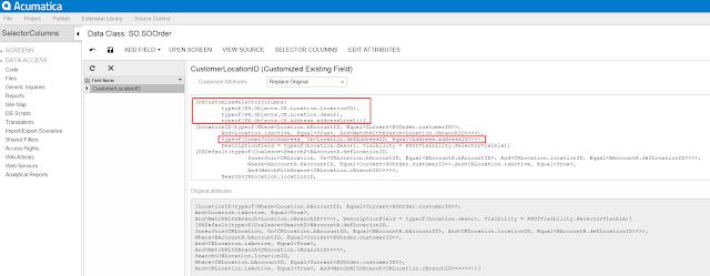 Acumatica Customization Browser
