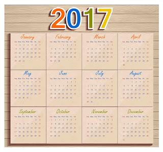 2017カレンダー無料テンプレート15