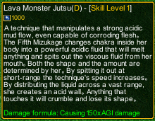 naruto castle defense 6.0 Lava Monster Jutsu detail