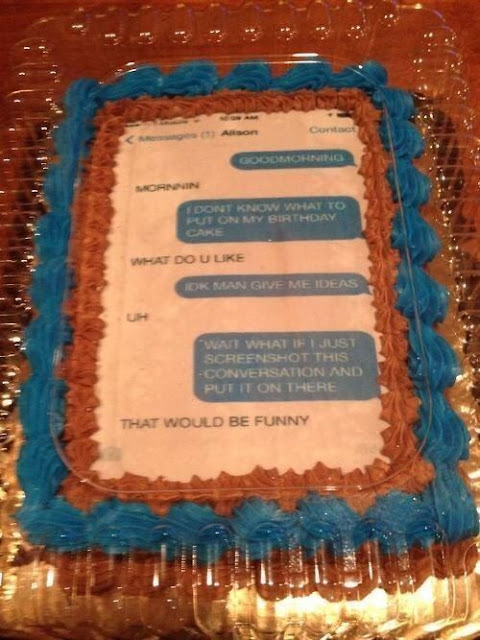 birthday cake text, grocery store text cake, screenshot cake