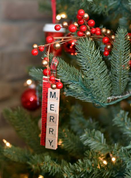 Six Days Of Handmade Ornaments. Scrabble Tile Ornaments